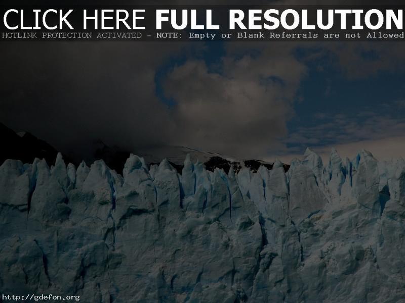 Обои Лед, ледник, небо фото картики заставки