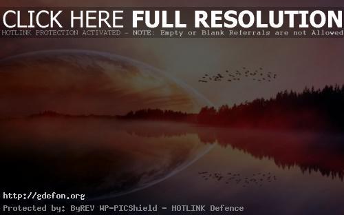 Обои Планета, птицы, озеро фото картики заставки