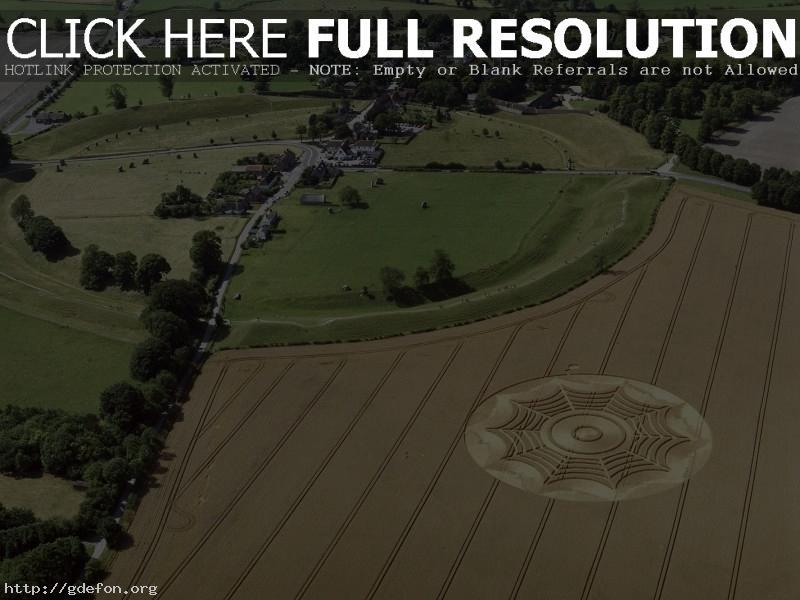 Обои Нло, поле, круги на полях фото картики заставки