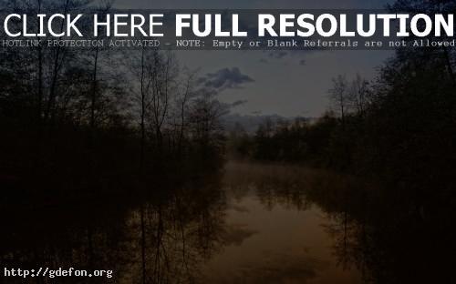 Обои Вечер, природа, вид, красота, река, леса, деревья фото картики заставки