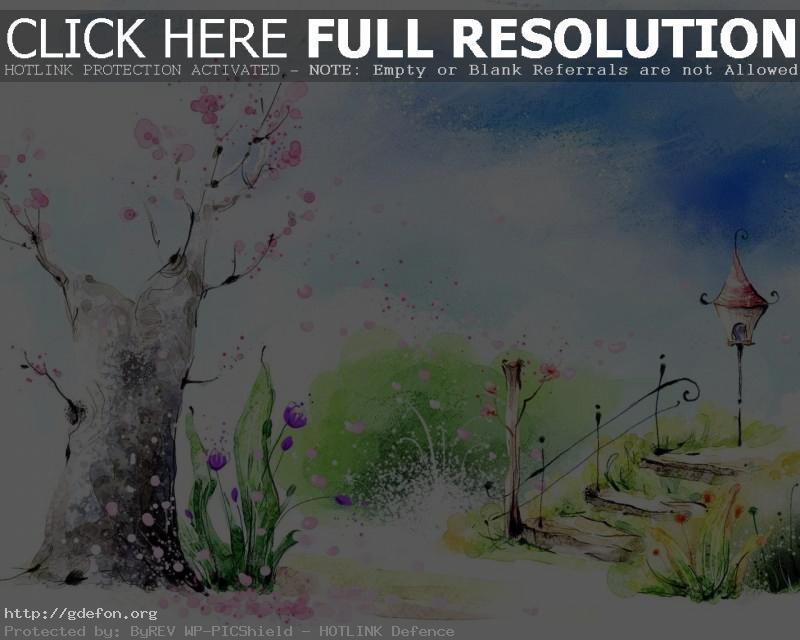 Обои Весна, парк, цветы, лестница, фонарь фото картики заставки
