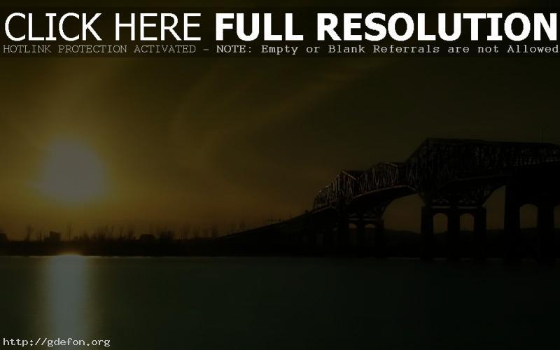 Обои Восход солнца над рекой фото картики заставки