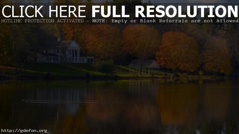 Обои Огайо, осень, озеро фото картики заставки