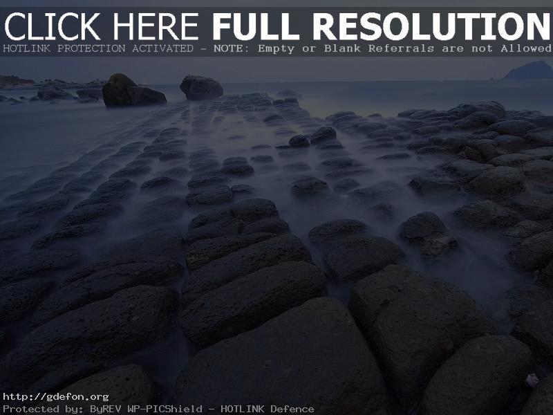 Обои Море, туман, камни, берег фото картики заставки