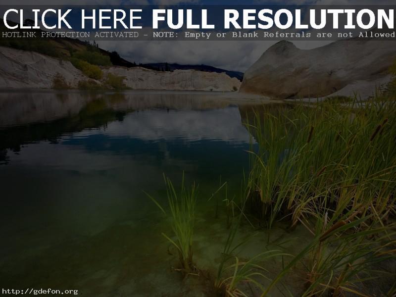 Обои Озеро, рудник, гранит фото картики заставки