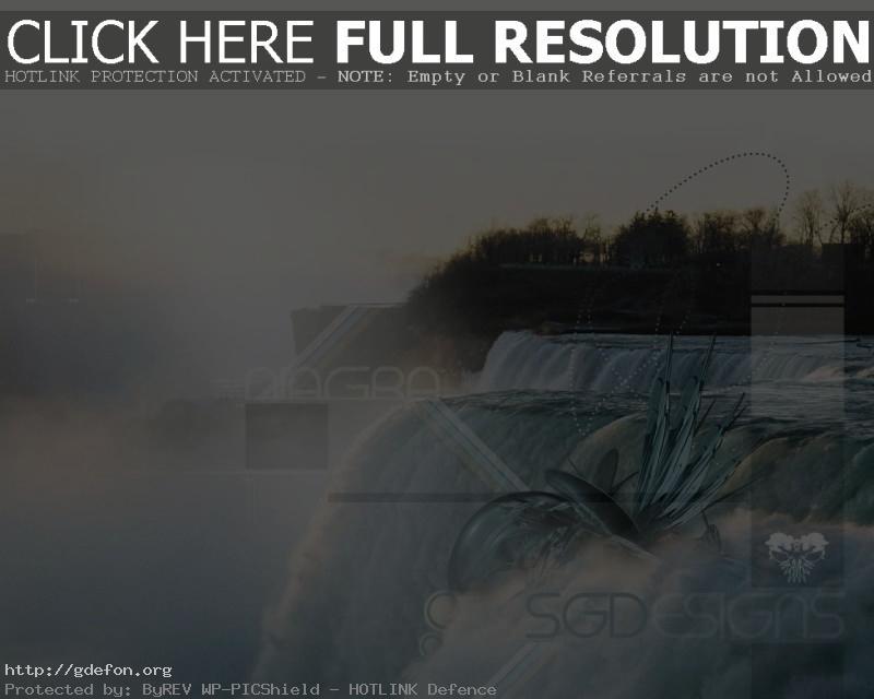 Обои Водопад, ниагара, свет фото картики заставки