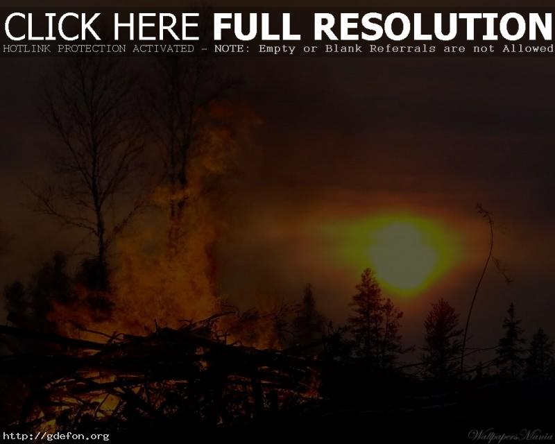 Обои Костер, огонь, солнце фото картики заставки