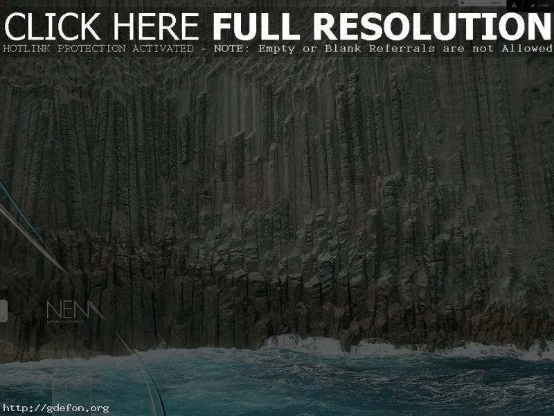 Обои Море, скала, волна, камень фото картики заставки