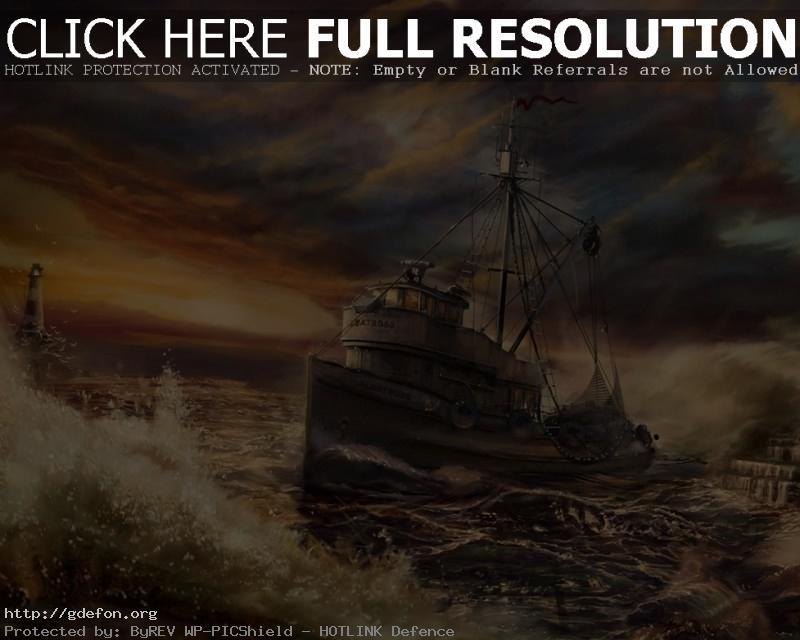 Обои Рисунок корабля фото картики заставки