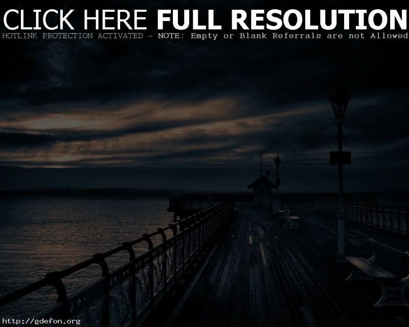 Обои Пирс, облака, вечер фото картики заставки