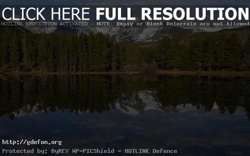 Обои Озеро, лес и горы фото картики заставки