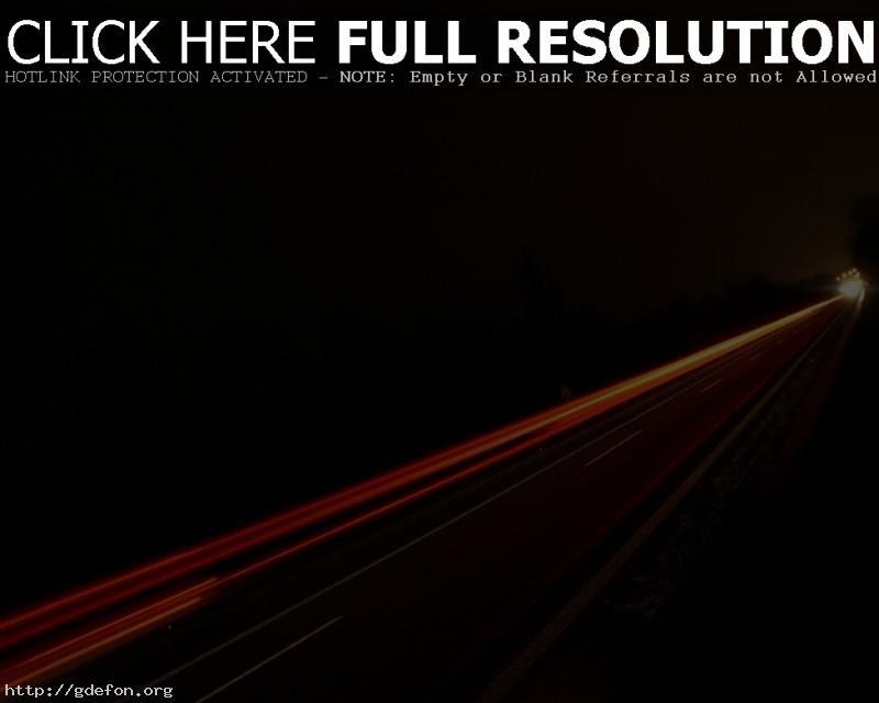 Обои Дорога, ночь, свет, след фото картики заставки