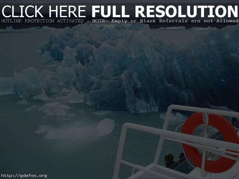 Обои Лед, айсберг, корабль, океан фото картики заставки