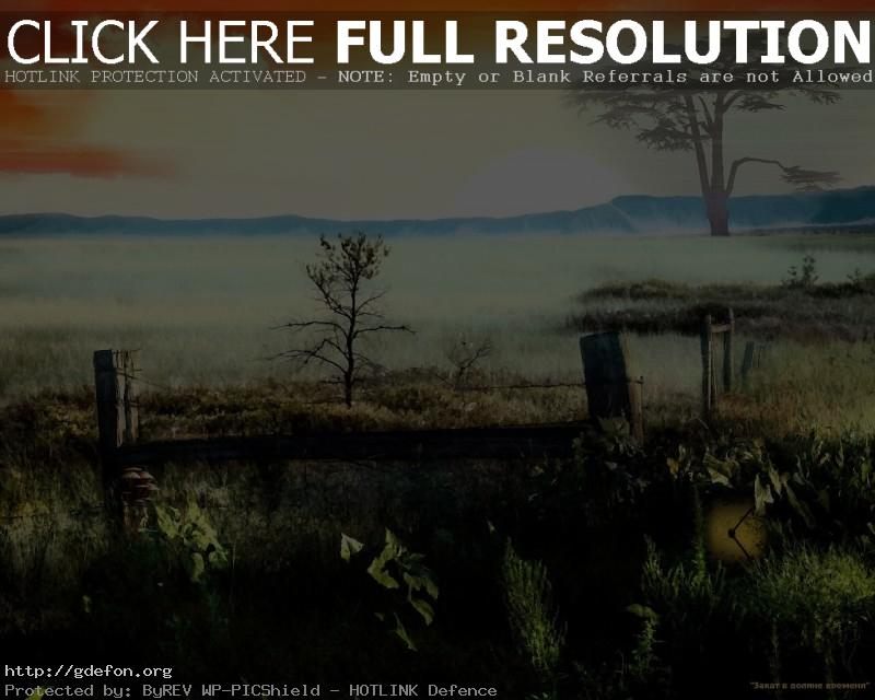 Обои Закат, долина фото картики заставки