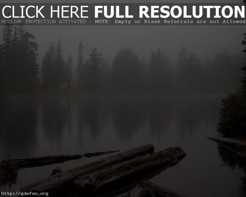 Обои Хмурое озеро фото картики заставки