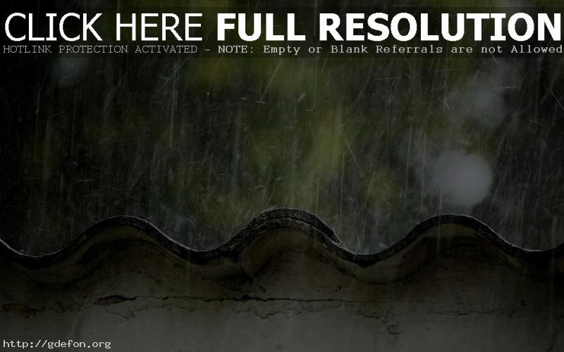 Обои Дождик по крыше фото картики заставки