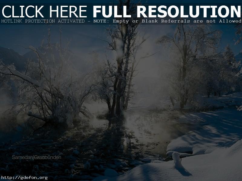 Обои зима, снег, солнце фото картики заставки