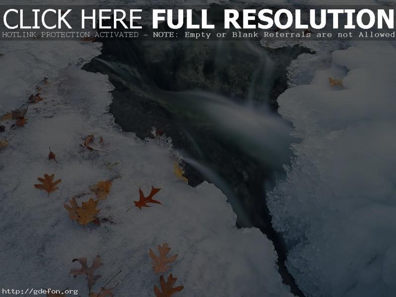 Обои Зима, лед, вода фото картики заставки
