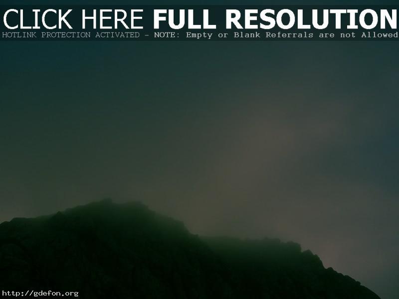 Обои Скалы, туман, небо фото картики заставки