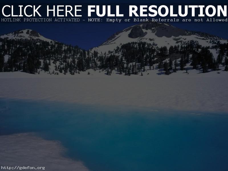 Обои Зима, горы, река фото картики заставки