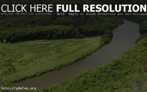 Обои Река между холмов фото картики заставки