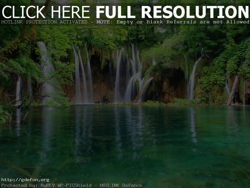 Обои Водопад, вода, лес фото картики заставки