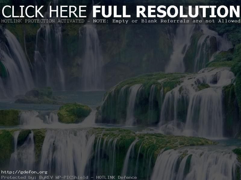 Обои Каскад водопадов фото картики заставки