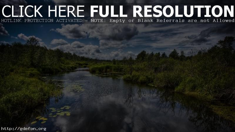 Обои Пейзаж над рекой фото картики заставки