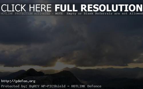 Обои Горы, тучи фото картики заставки