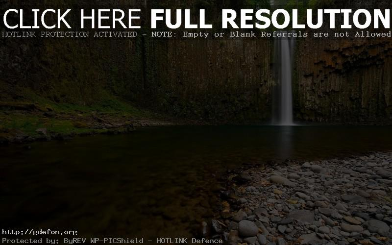 Обои Водопад, камни, река фото картики заставки