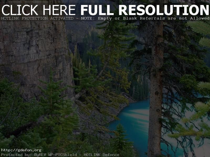 Обои Горы, озеро, Канада фото картики заставки