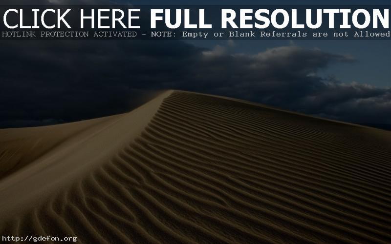 Обои Пустыня, песок, тучи, небо, жара фото картики заставки