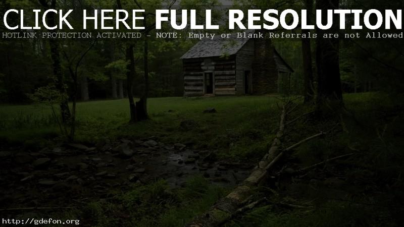Обои Дом посреди леса фото картики заставки