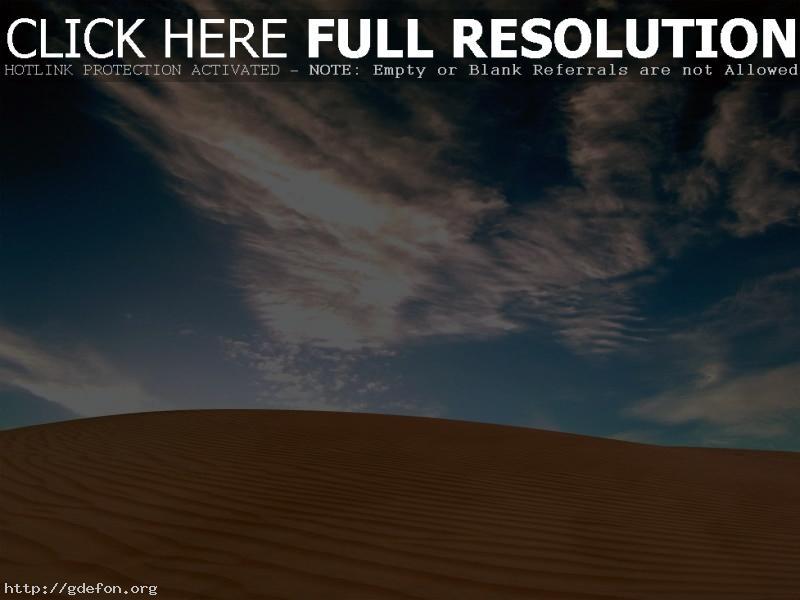 Обои Пустыня, песок, небо фото картики заставки