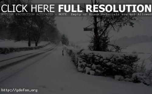 Обои Зима, снег, дорога фото картики заставки