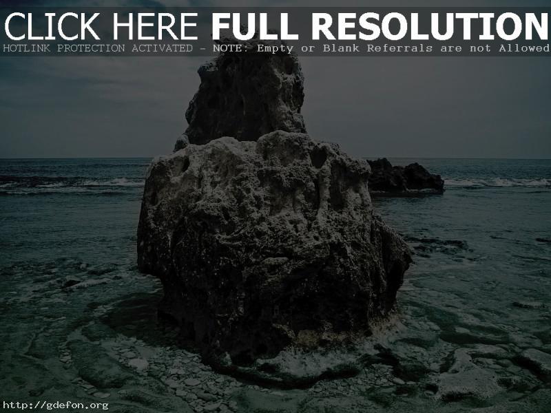 Обои Камень, море, галька фото картики заставки