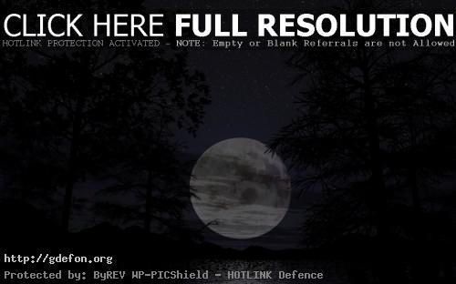 Обои Огромная луна, скачать ночные красивые фото картики заставки