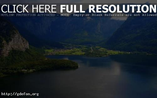 Обои Горы и озеро в Австрии фото картики заставки