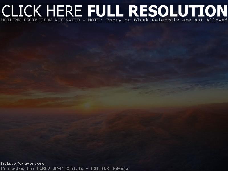 Обои Облака, восход, небо фото картики заставки