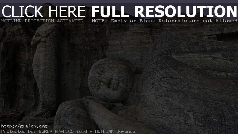 Обои Будда, статуи, камень, скалы фото картики заставки