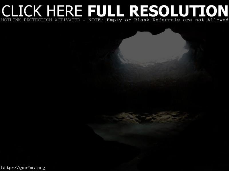 Обои Пещера с водоемом фото картики заставки