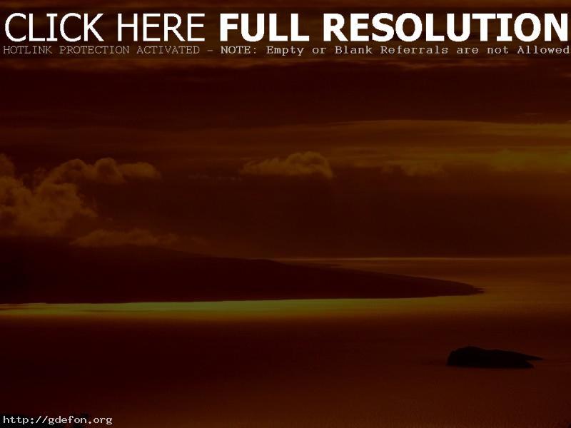 Обои Красные облака над горизонтом фото картики заставки