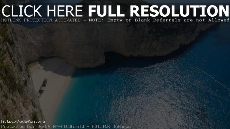 Обои Остров, океан, лодка, пляж, Греция фото картики заставки