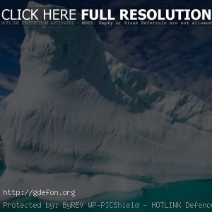 айсберг, снег, лед