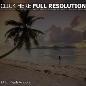 Закат на Сейшельских острововах
