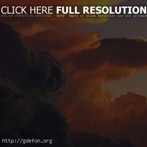 Багровые облака