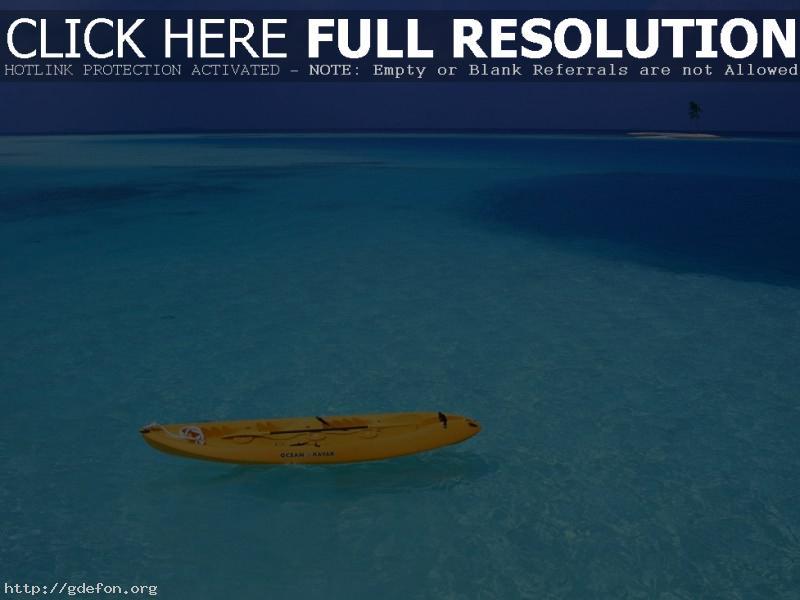 Обои Море, берег, лодка фото картики заставки