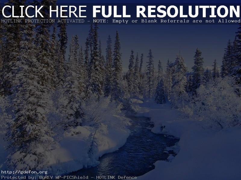 Обои Зима, снег, река, лед фото картики заставки