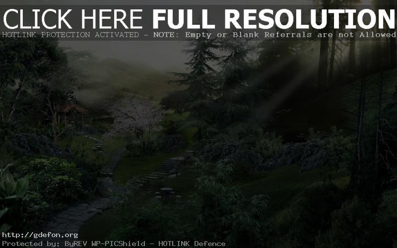 Обои Тропинка, лес, луч, солнце фото картики заставки
