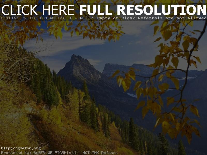 Обои Монтана, осень, горы, деревья фото картики заставки